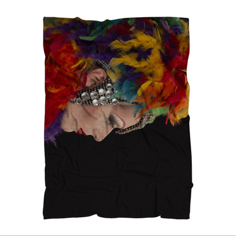 "alloverprint.it Homeware 51""X69"" Overall Print Fleece Blanket - Mardi Gras"