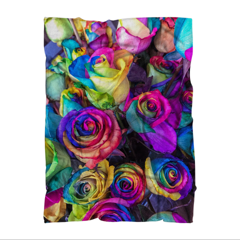 "alloverprint.it Homeware 51""X69"" Overall Print Fleece Blanket - Roses"