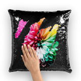 alloverprint.it Homeware Black / White Overall Print Mermaid Sequin Pillow - Dahlia