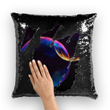 alloverprint.it Homeware Black / White Overall Print Mermaid Sequin Pillow - Pride Bubbles