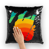 alloverprint.it Homeware Black / White Overall Print Mermaid Sequin Pillow - Pride Rainbow