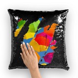 alloverprint.it Homeware Black / White Overall Print Mermaid Sequin Pillow - Serious Shade