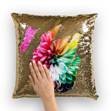 alloverprint.it Homeware Gold / White Overall Print Mermaid Sequin Pillow - Dahlia