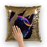 alloverprint.it Homeware Gold / White Overall Print Mermaid Sequin Pillow - Pride Bubbles