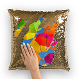 alloverprint.it Homeware Gold / White Overall Print Mermaid Sequin Pillow - Serious Shade