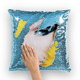 alloverprint.it Homeware Light Blue / White Overall Print Mermaid Sequin Pillow - Drag Queen
