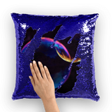 alloverprint.it Homeware Overall Print Mermaid Sequin Pillow - Pride Bubbles