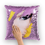 alloverprint.it Homeware Purple / White Overall Print Mermaid Sequin Pillow - Drag Queen