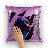 alloverprint.it Homeware Purple / White Overall Print Mermaid Sequin Pillow - Pride Bubbles