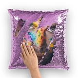 Overall Print Mermaid Sequin Pillow - Pride Face - Homeware - Maletropolis