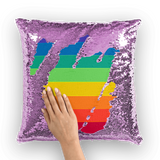 alloverprint.it Homeware Purple / White Overall Print Mermaid Sequin Pillow - Pride Flag