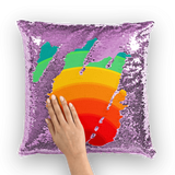 alloverprint.it Homeware Purple / White Overall Print Mermaid Sequin Pillow - Pride Rainbow