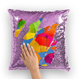 alloverprint.it Homeware Purple / White Overall Print Mermaid Sequin Pillow - Serious Shade
