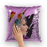 alloverprint.it Homeware Purple / White with insert Overall Print Mermaid Sequin Pillow - Mardi Gras