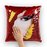 alloverprint.it Homeware Red / White Overall Print Mermaid Sequin Pillow - Drag Queen