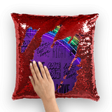 alloverprint.it Homeware Red / White Overall Print Mermaid Sequin Pillow - Love Is Love