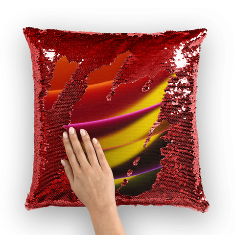 alloverprint.it Homeware Red / White Overall Print Mermaid Sequin Pillow - Pride Arc