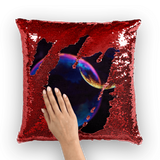 alloverprint.it Homeware Red / White Overall Print Mermaid Sequin Pillow - Pride Bubbles