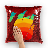 alloverprint.it Homeware Red / White Overall Print Mermaid Sequin Pillow - Pride Rainbow