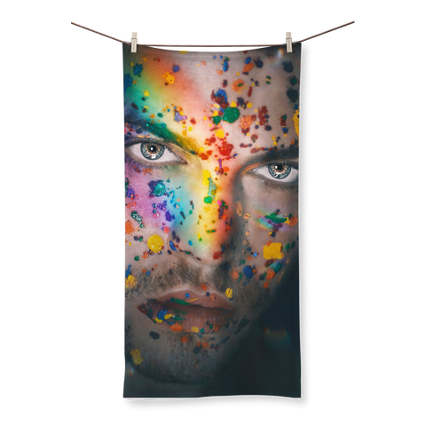 alloverprint.it Homeware (XL) Beach Overall Print Beach Towel - Pride Face