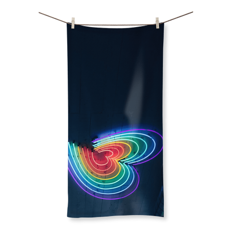 alloverprint.it Homeware (XL) Beach Overall Print Beach Towel - Rainbow Hearts