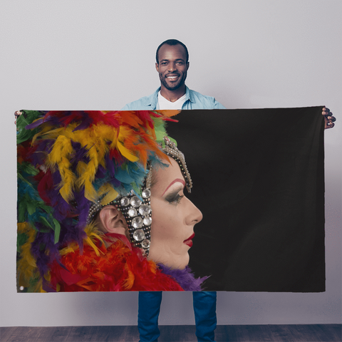 alloverprint.it Wall Decor 5FT X 3FT Overall Print Flag - Mardi Gras