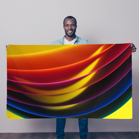 alloverprint.it Wall Decor 5FT X 3FT Overall Print Flag - Pride Arc