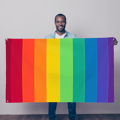alloverprint.it Wall Decor 5FT X 3FT Overall Print Flag - Pride Flag