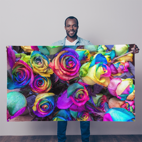 Overall Print Flag - Roses