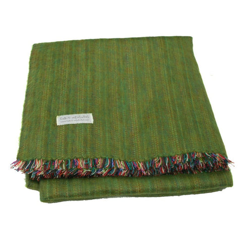 Cabin Measures Home - Pillows & Throws 100% Alpaca Full Size Blanket - Leaf