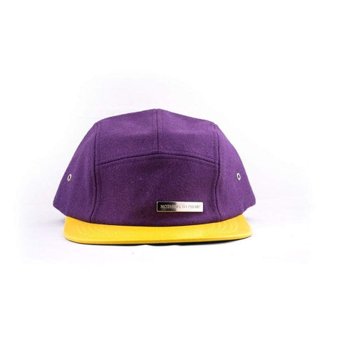 Dome5 Men - Accessories - Hats 5-Panel Hat - Purple/Yellow