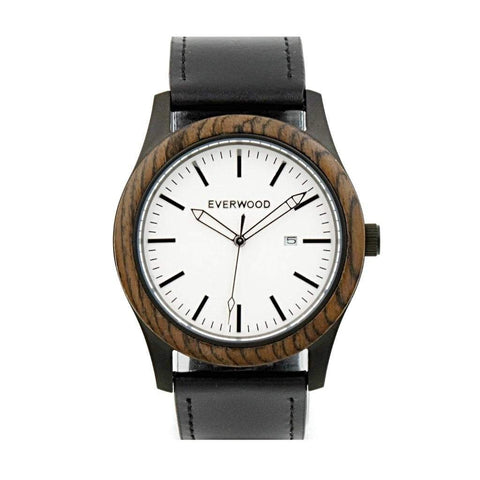Everwood Watch Company Men - Accessories - Watches Default Title Everwood Inverness Watch - Walnut/Black Leather