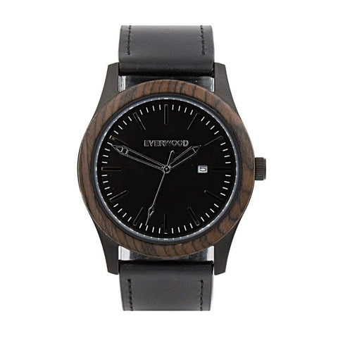 Everwood Watch Company Men - Accessories - Watches Everwood Inverness Watch - Walnut/Black Leather