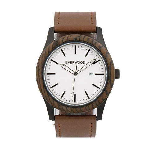 Everwood Watch Company Men - Accessories - Watches Everwood Inverness Watch - Walnut/Brown Leather