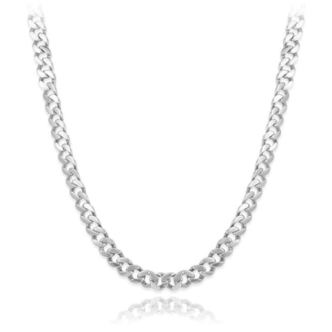 Fronay Collection Men - Jewelry - Necklaces Sterling Silver Cuban Curb Link Chain Necklace - 26""