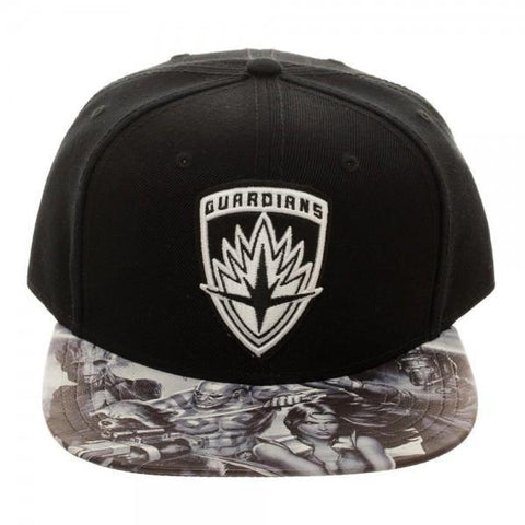 Guardians of the Galaxy Embroidered Icon with Sublimated Bill Snapback Cap Maletropolis