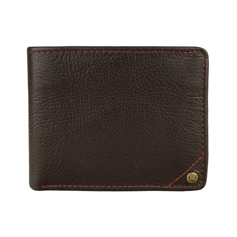 Hidesign Men - Accessories - Wallets & Small Goods Default Title Angle Stitch Leather Slim Bifold Wallet