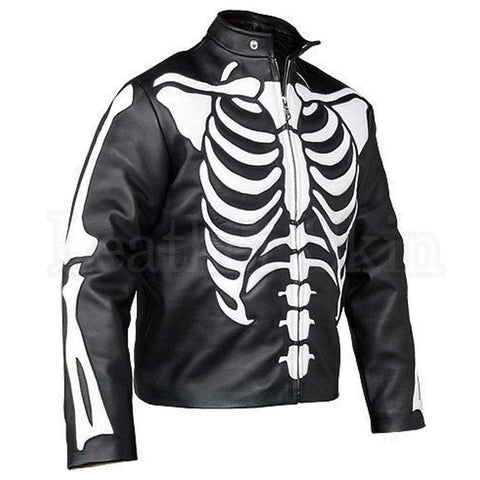 Leather Skin Men - Apparel - Outerwear - Jackets Leather Biker Jacket - Skeleton