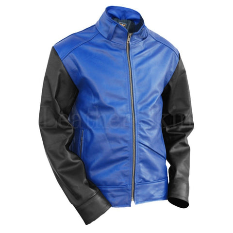 Leather Skin Men - Apparel - Outerwear - Jackets Leather Jacket - Blue/Black