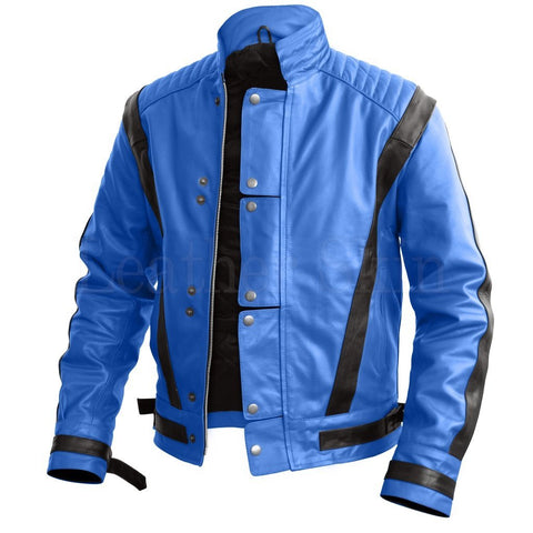 Leather Skin Men - Apparel - Outerwear - Jackets Leather MJ Jacket - Blue/Black