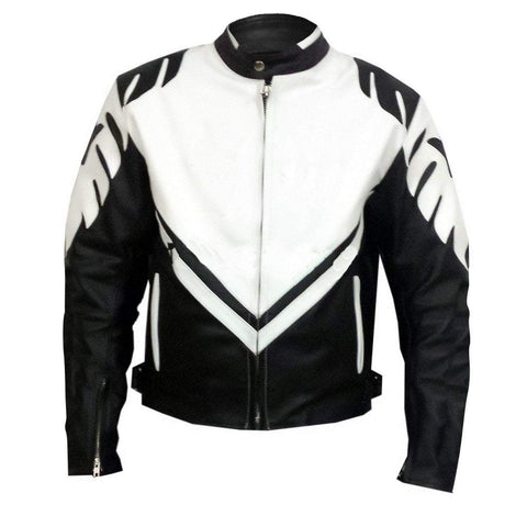 Leather Skin Men - Apparel - Outerwear - Jackets Leather Racing Jacket - Black/White
