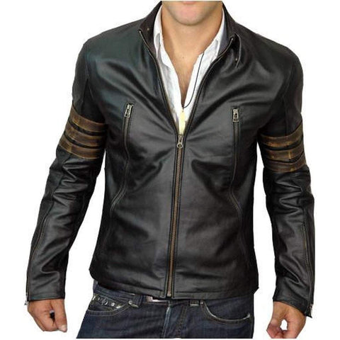 Leather Skin Men - Apparel - Outerwear - Jackets Leather XMen Jacket - Black