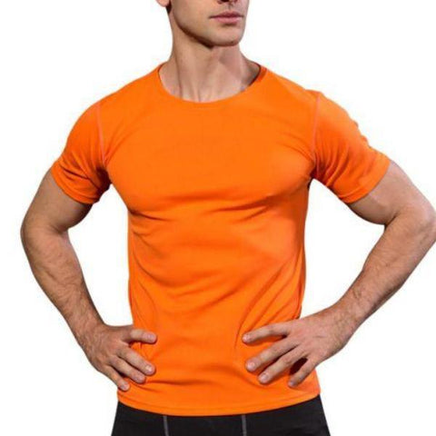 Maletropolis Men - Apparel - Athletic Wear Orange / XXL Maletropolis Basics Quick-Dry Tee Shirt