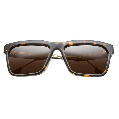 Men - Accessories - Sunglasses IVI Vision Deano Sunglasses - Polished Acetate Tortoise/Brushed Gold