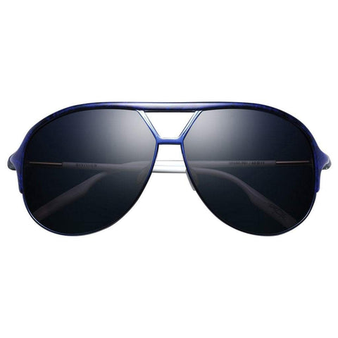 Men - Accessories - Sunglasses IVI Vision Division Sunglasses - Blue Black Marble/White