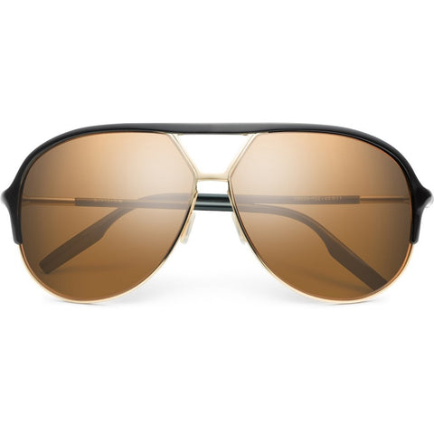 Men - Accessories - Sunglasses IVI Vision Division Sunglasses -Polished Black/Gold
