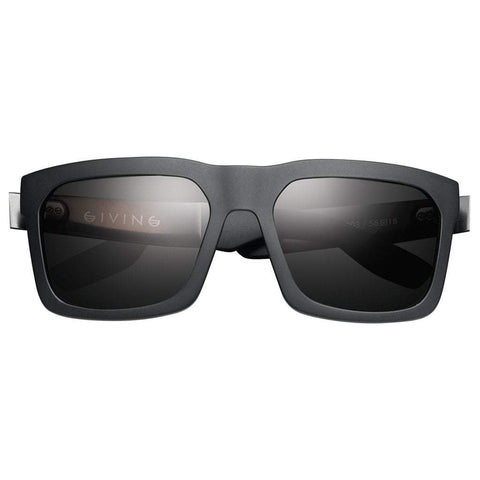 Men - Accessories - Sunglasses IVI Vision Giving Sunglasses - Matte Black/Brushed Black