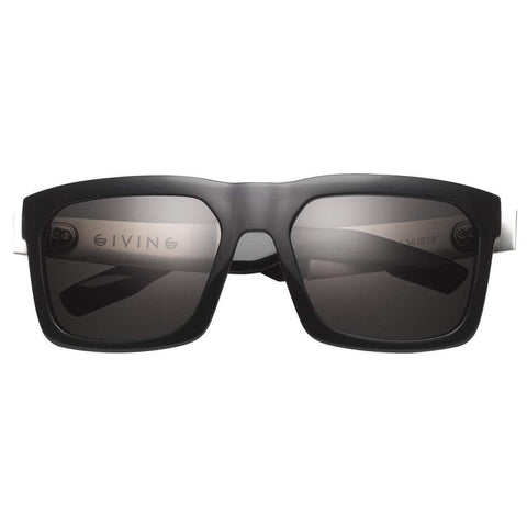Men - Accessories - Sunglasses IVI Vision Giving Sunglasses - Polished Black/Brushed Aluminum