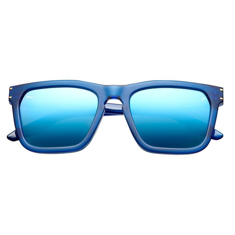 Men - Accessories - Sunglasses IVI Vision Gravitas Sunglasses - Matte Blue/Antique Brass