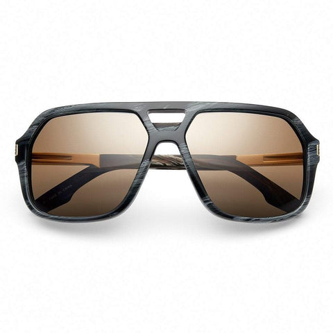Men - Accessories - Sunglasses IVI Vision Hunter Sunglasses - Polished Double Horn/Gold